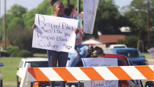 Springtown teen leads protest against nationwide police brutality